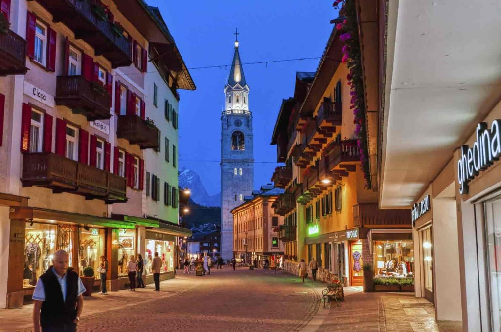 Enjoy the villages and shopping at night